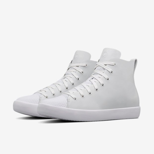 cd2e95cd2562ad Premium Leather Tops the Converse All Star Modern High Top HTM ...