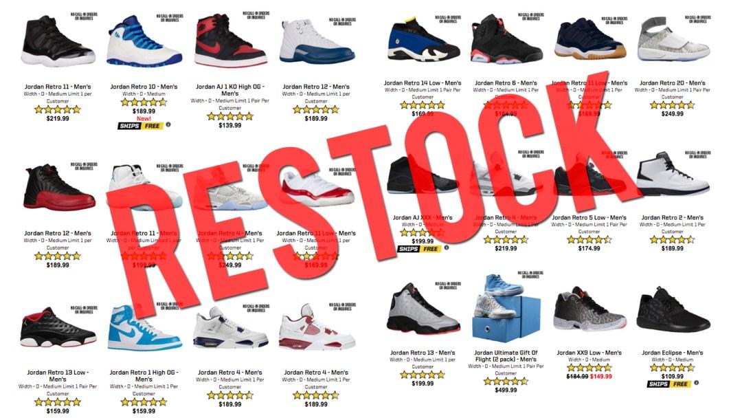 550cf3ea7a3975 Eastbay Just Restocked a Bunch of Air Jordan Retro s - WearTesters