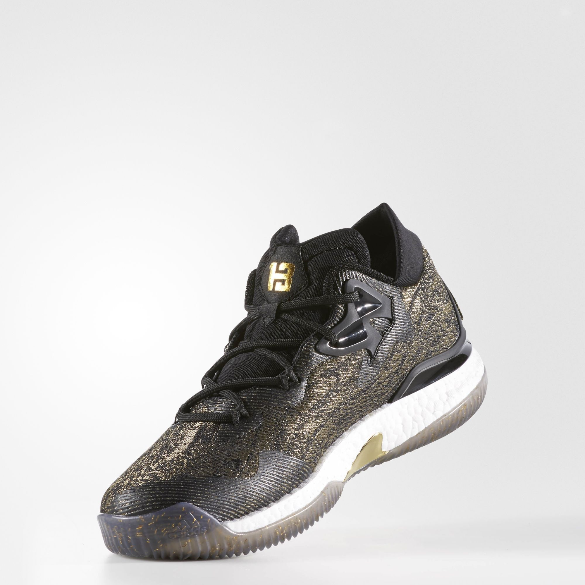 2530f8002697 ... closeout adidas crazylight boost 2016 black gold angle d7f77 8c045