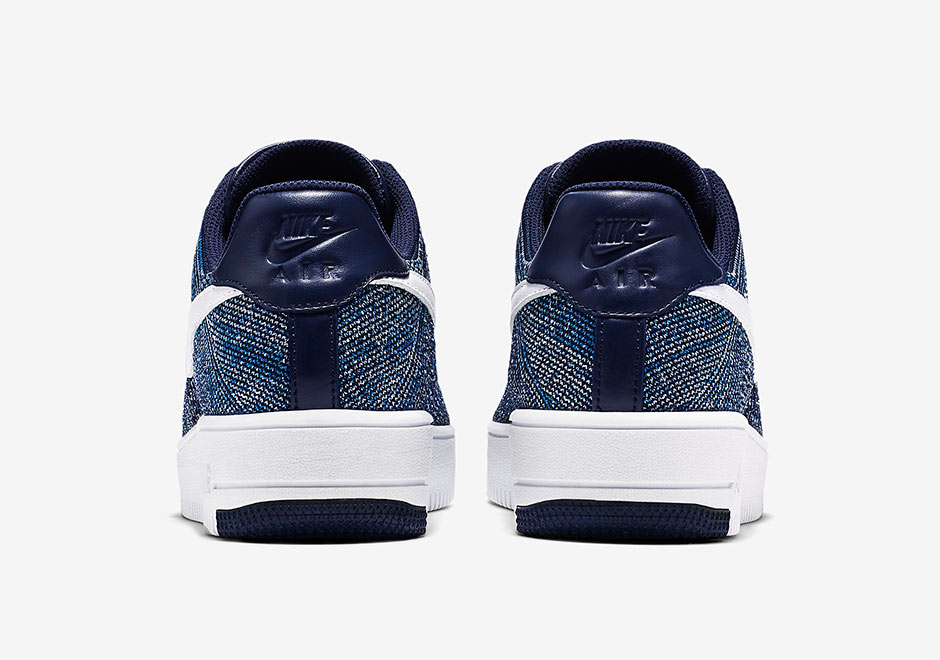 Check Out the Nike Air Force 1 Flyknit in Navy-6 - WearTesters 564b8b0db
