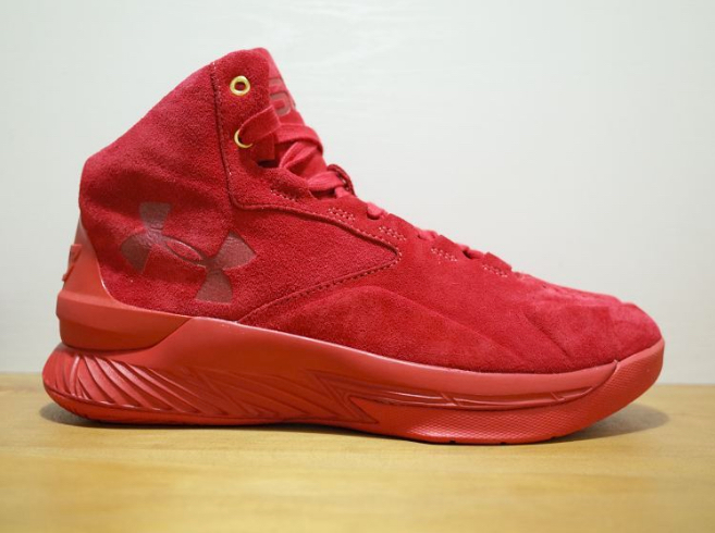 under armour curry one lux red suede 1