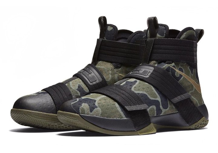 Camo Print Covers this Colorway of the Nike LeBron Soldier 10-1