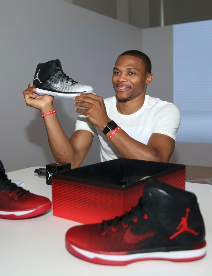 Russell Westbrook Checks Out the Upcoming Air Jordan XXXI  Fine ... 38bb8556d81d