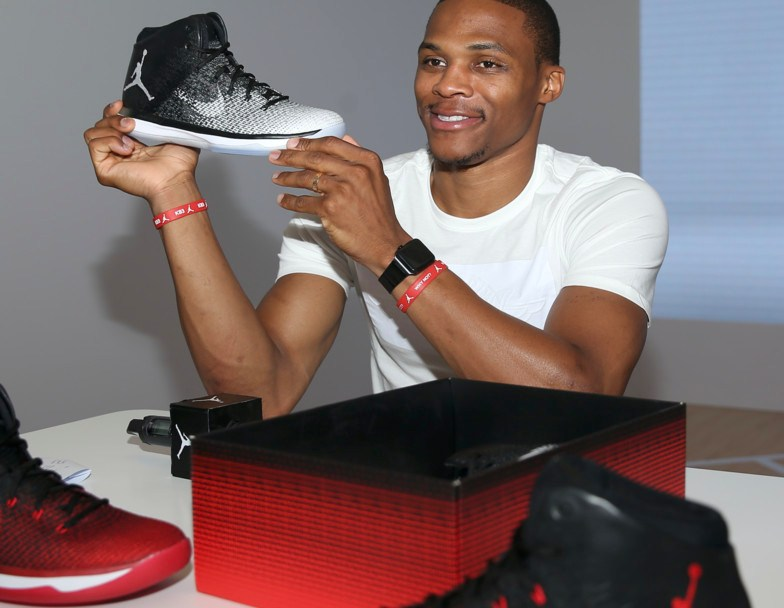 c73a58cf7049 Russell Westbrook Checks Out the Upcoming Air Jordan XXXI  Fine ...