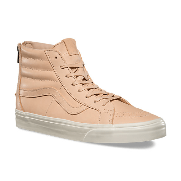 cfbb7507149607 Veggie Tan Leather is Featured on this Vans Sk8-Hi - WearTesters