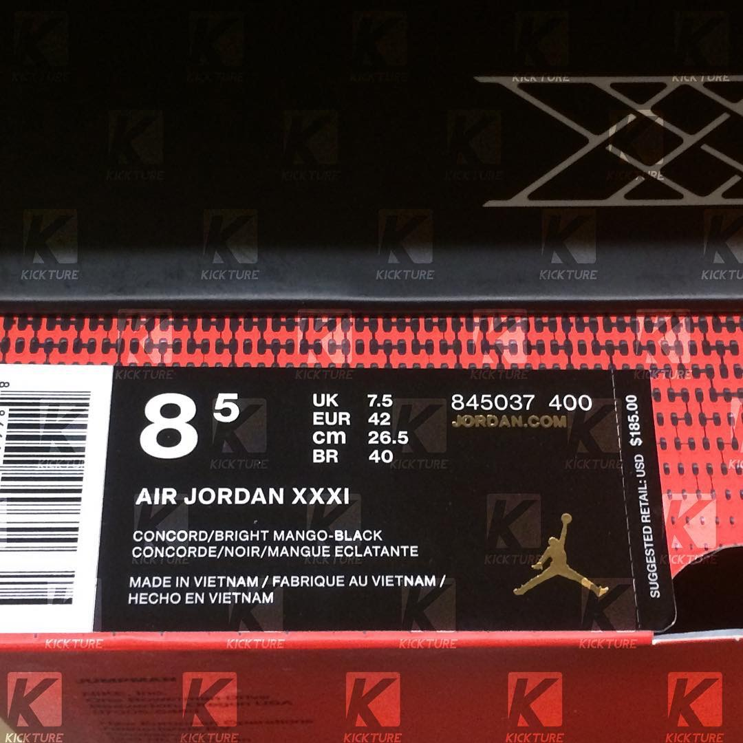newest b806c 2b669 Jordan XXXI – SuperNova – Box
