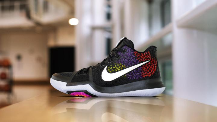 472efa4c6ad Let us know what you think about this Nike Kyrie 3 PE and what you think  it s all about. All-Star game perhaps  Sound off in the comment section  below and ...