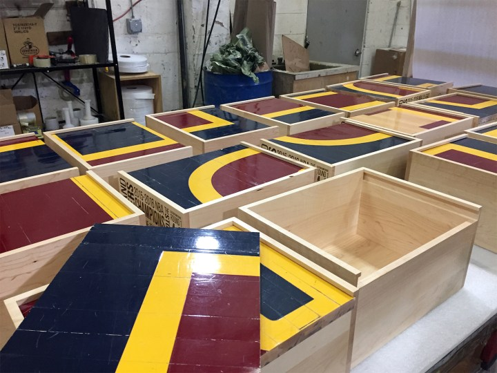 stockx cavs court spo production