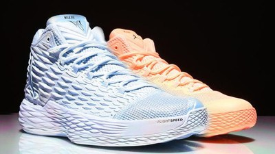 d326f7f16cc2 Jordan Melo M13  Sunset Glow  and  Ice Blue  Will Release Exclusively at  Foot Locker NY Locations