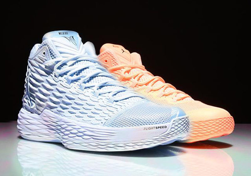 Jordan Melo M13  Sunset Glow  and  Ice Blue  Will Release ... 76321d029