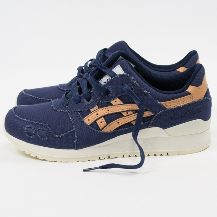 asics gel-lyte iii indigo blue tan denim 3