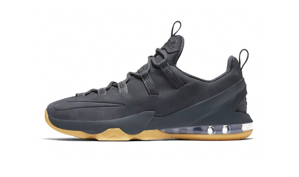 2912787679c2 The Nike LeBron 13 Low Goes Premium With This  Anthracite  Colorway ...