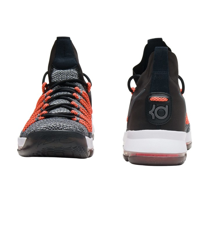 nike kd 9 elite Black:White:Dark Grey-Hyper Orange 3