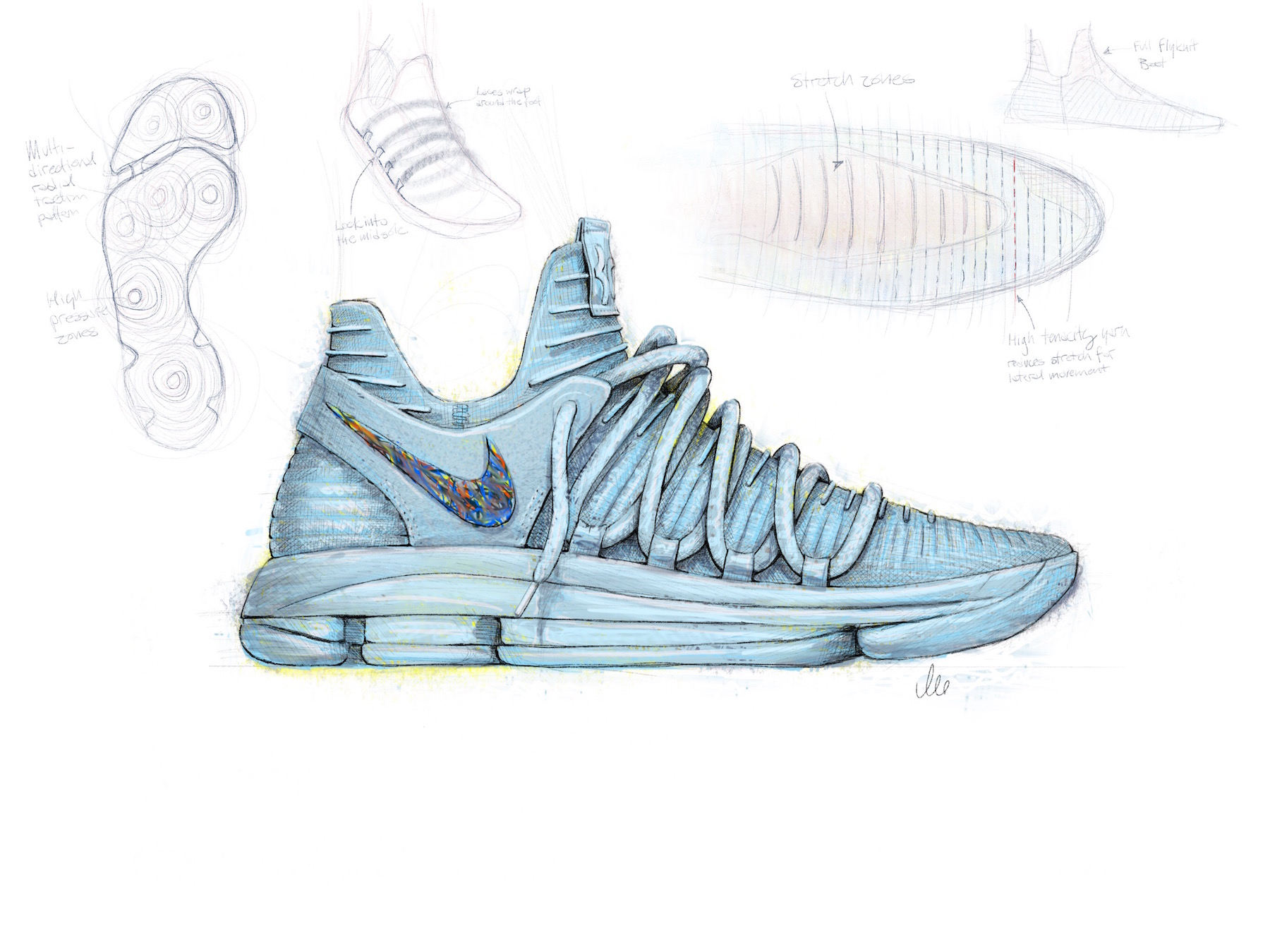 Nike Kd10 Design Sketch Weartesters