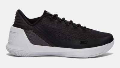 under armour curry 3 low black white 1