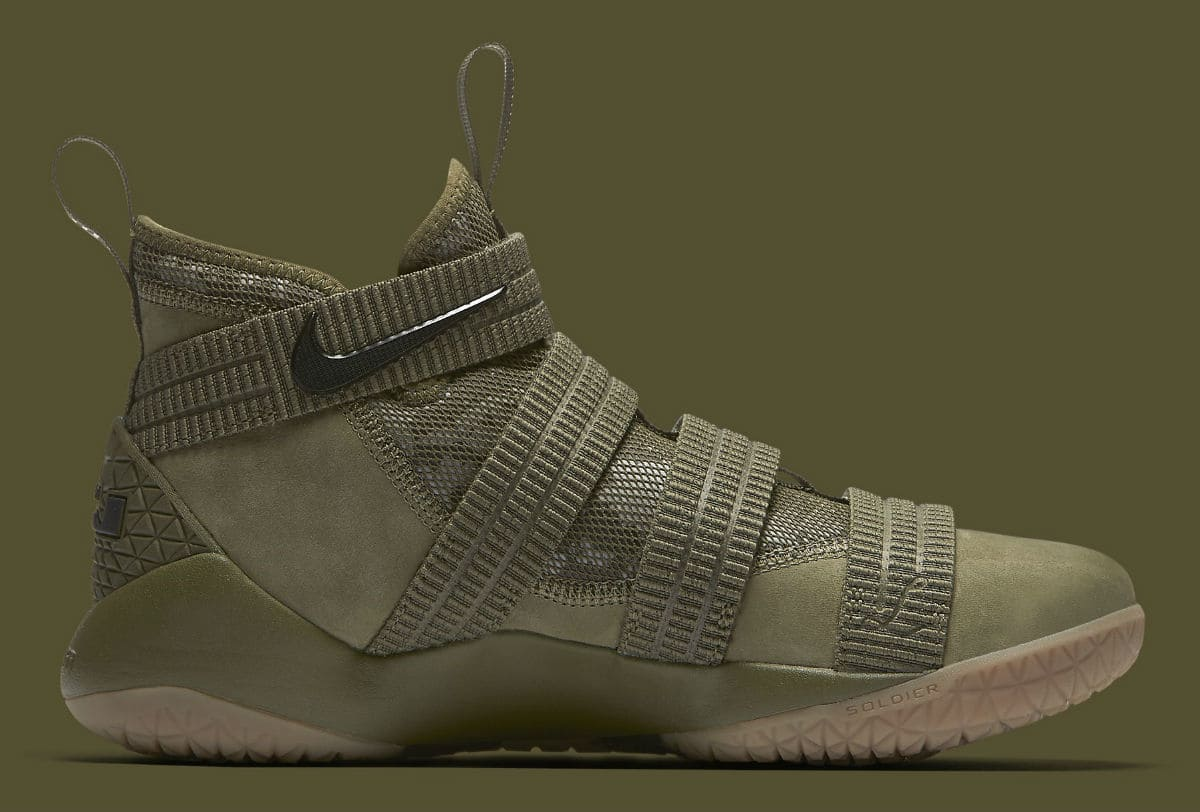 21622f89bb2711 The Nike LeBron Soldier 11 Gets an Olive Makeover-2 - WearTesters