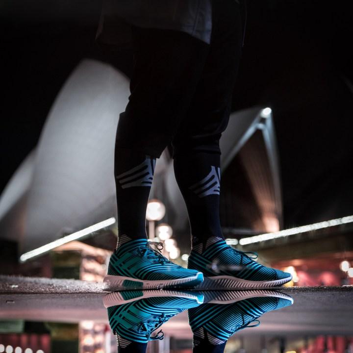 0d5ba7f899eb Leo Messi and adidas Soccer Launch Ocean Storm Nemeziz Collection ...