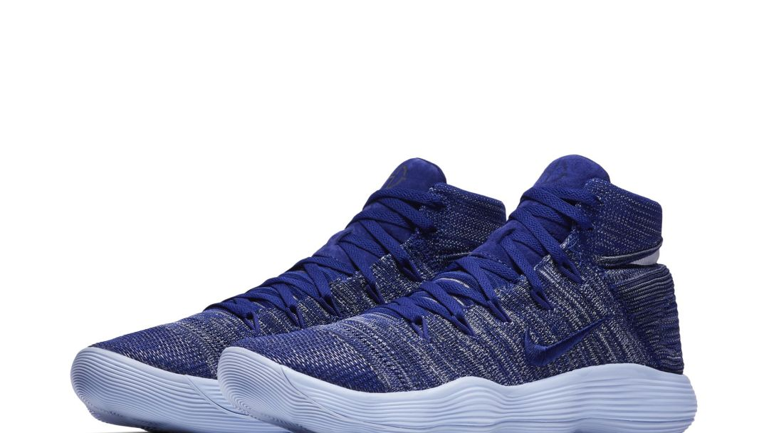 7decfafc86e Shades of Blue for this Nike React Hyperdunk 2017 Flyknit Colorway ...