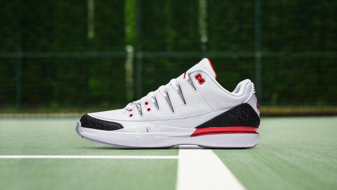 24dc53a15355 The Nike Zoom Vapor RF x Air Jordan 3 is Coming Back in  Fire Red ...