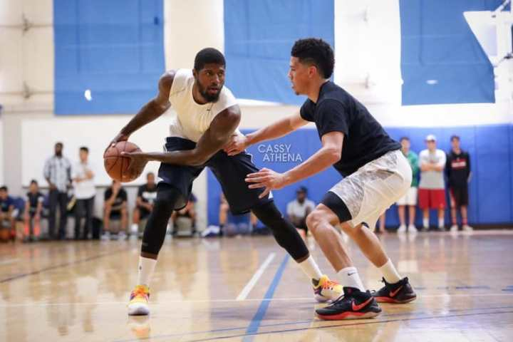 e4e48a4e5 Paul George Spotted in an OKC-Themed PG1 - WearTesters