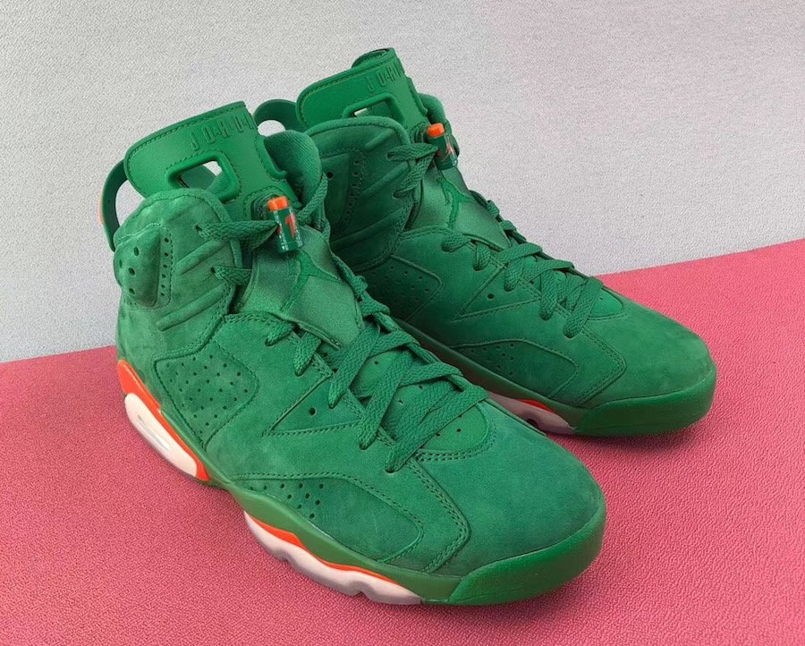 60c545f6cb38d air jordan 6 gatorade green suede - WearTesters