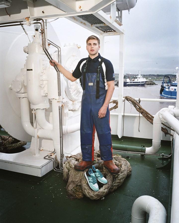 hanon new balance U520HNF fishermans blues 19