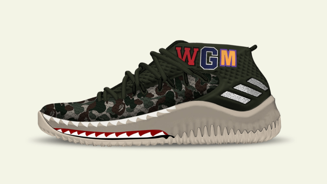 competitive price f1773 83687 BAPE adidas dame 4 3