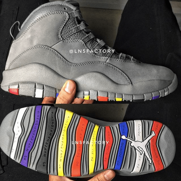 36ef4f5418d First Look at This Gray Multicolor Air Jordan 10 Retro for 2018 ...