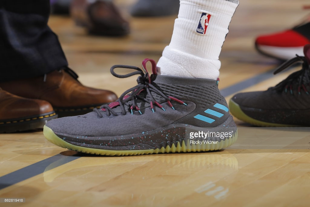 low priced 85e6f bf504 The adidas Dame 4 u0027Glowu0027 Releases Next Week at Eastbay -  WearTesters
