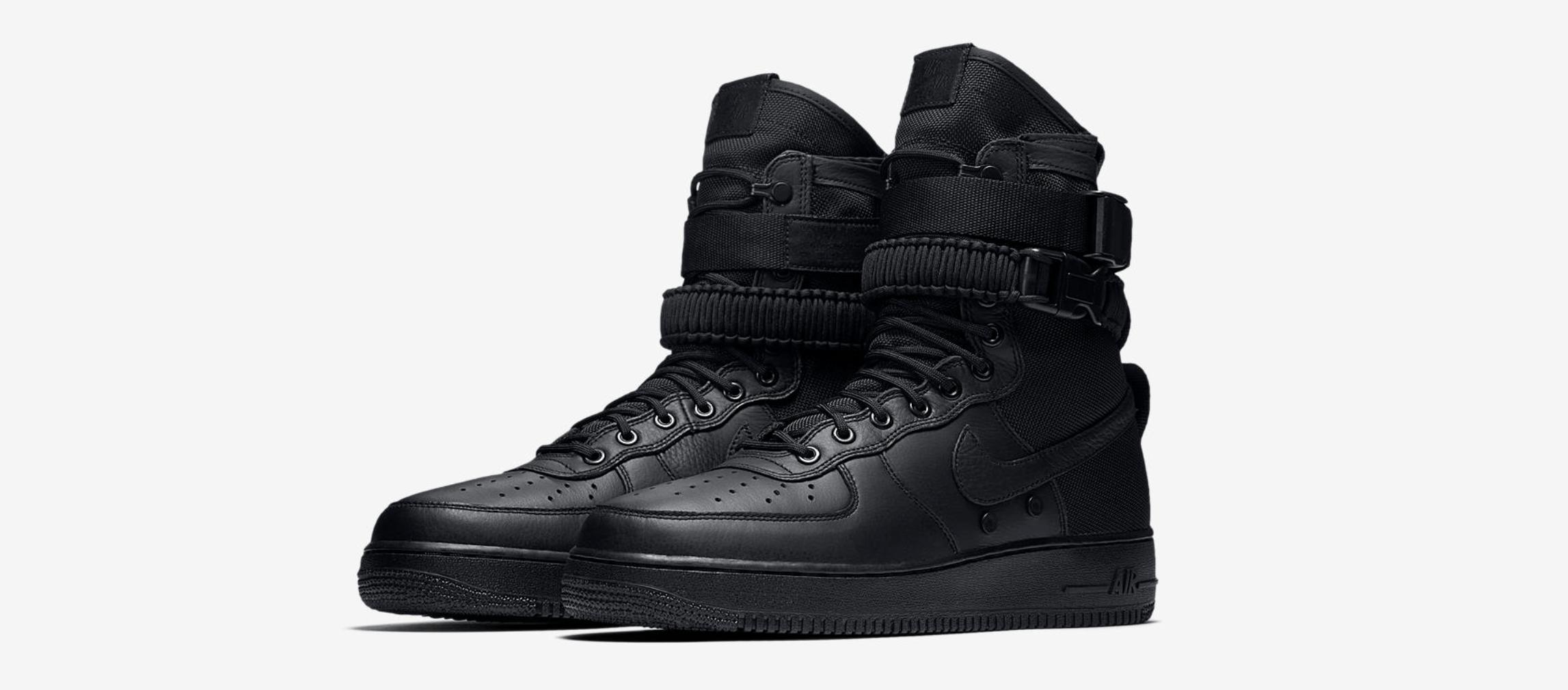 ad3a005d2d0fd5 The Nike SF-AF1  Triple Black  Drops Next Week - WearTesters
