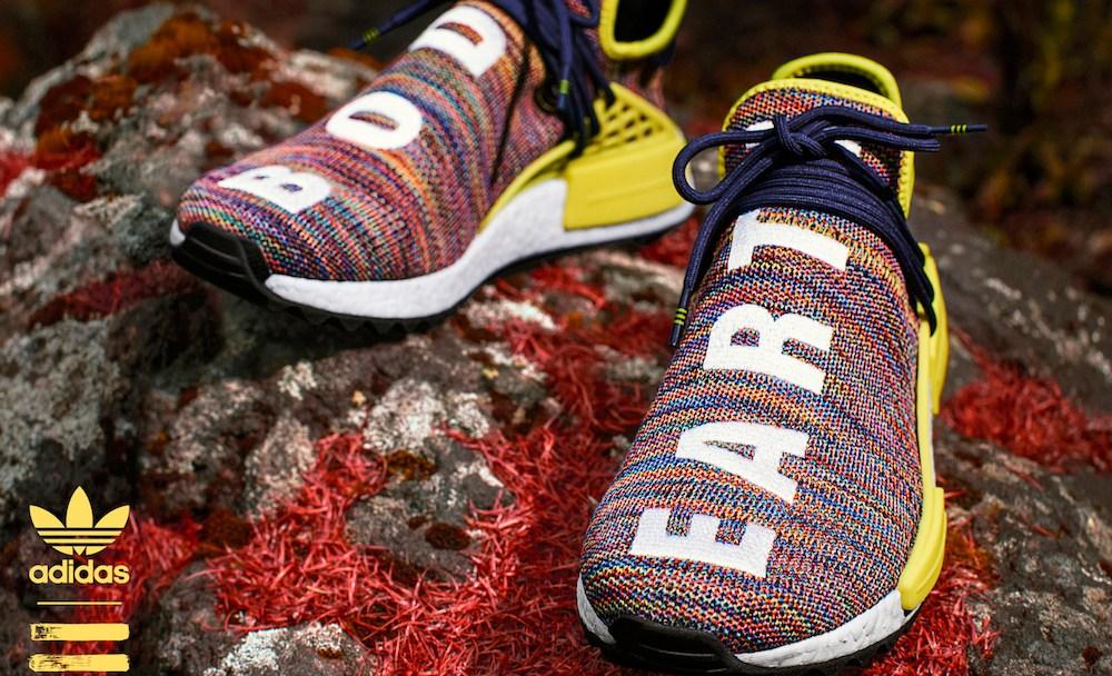 edbce4b1c Pharrell and adidas Unveil Four Hu NMD TR Colorways for the Trails ...