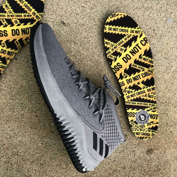 adidas dame 4 yellow tape 10