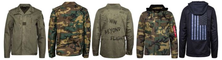 alpha industries SS18 drop field coats