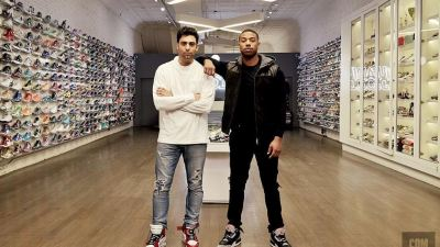 michael b jordan sneaker shopping