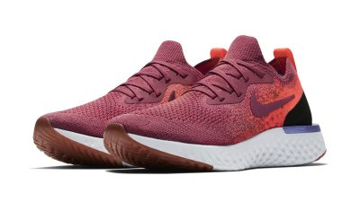 NIKE WMNS EPIC REACT FLYKNIT VINTAGE WINE:VINTAGE WINE:RED ORBIT:PURE PLATINUM:TWILIGHT PULSE 1