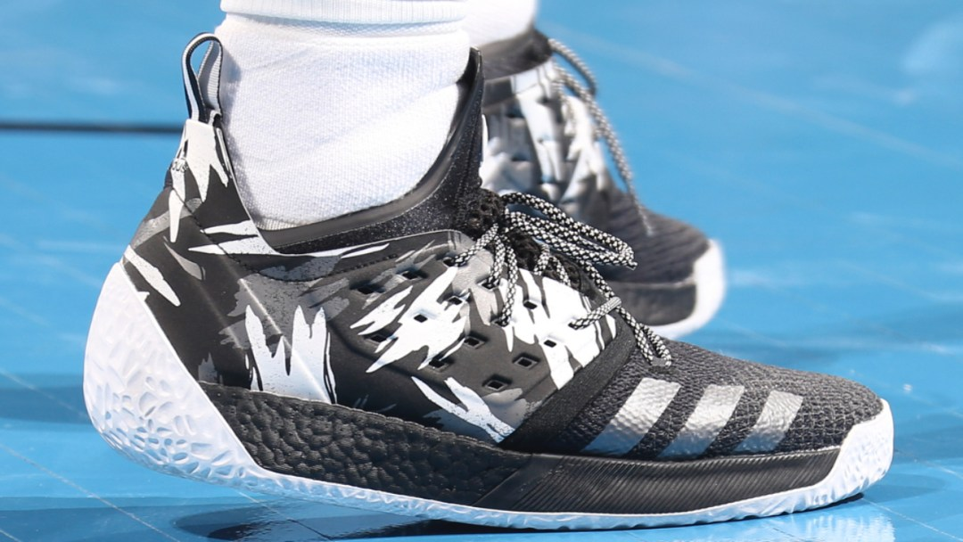 Last Night James Harden Debuted the Harden Vol 2  Traffic Jam ... 088893acf5