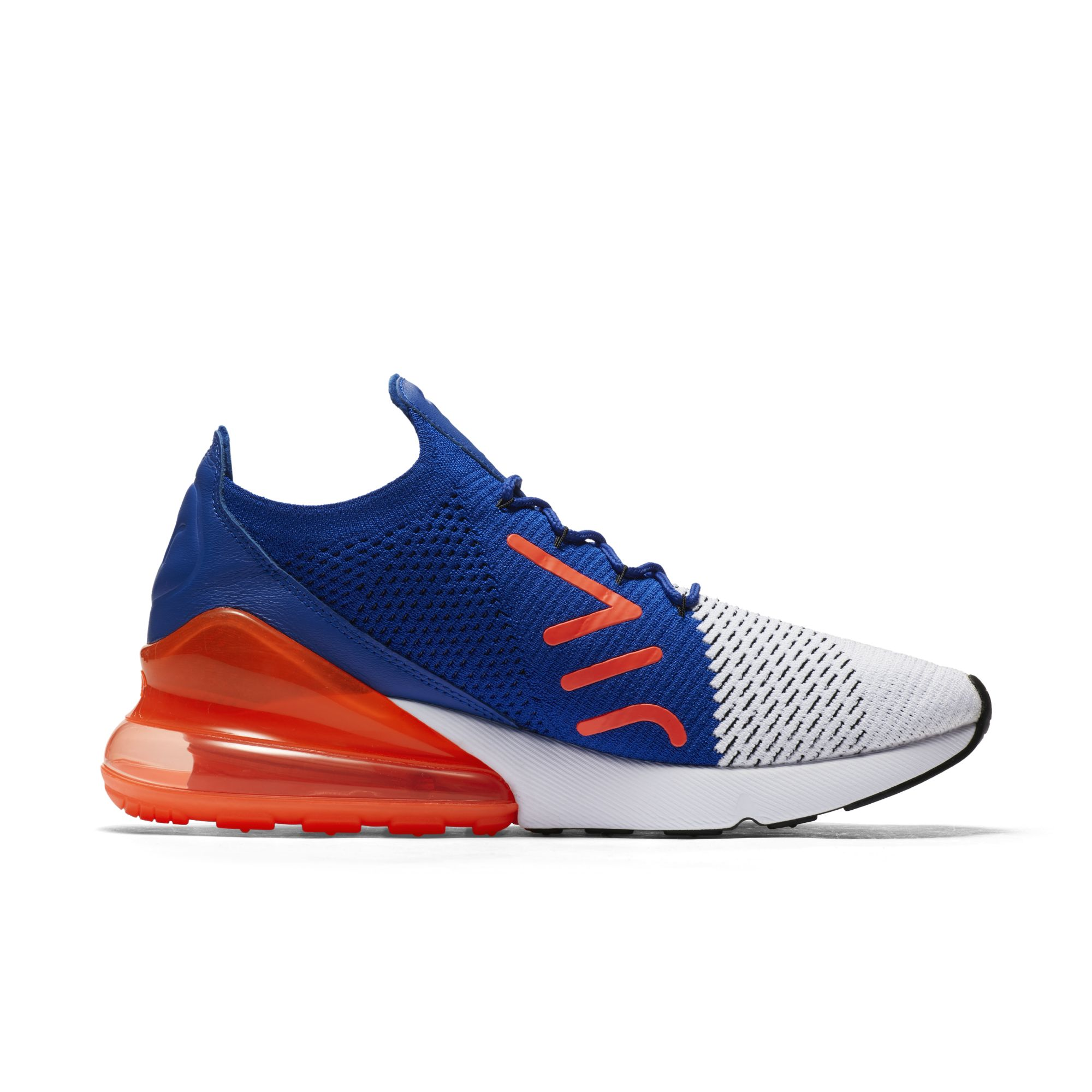 bcfbc129502f nike air max 270 flyknit racer blue total crimson mens 2 - WearTesters