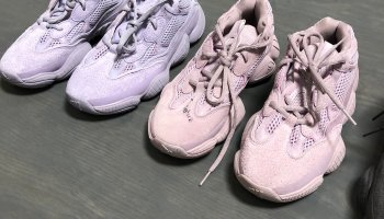 check out 0b9f2 4057d Kim Kardashian-West Shows off the New Yeezy Mud Rat 500 ...