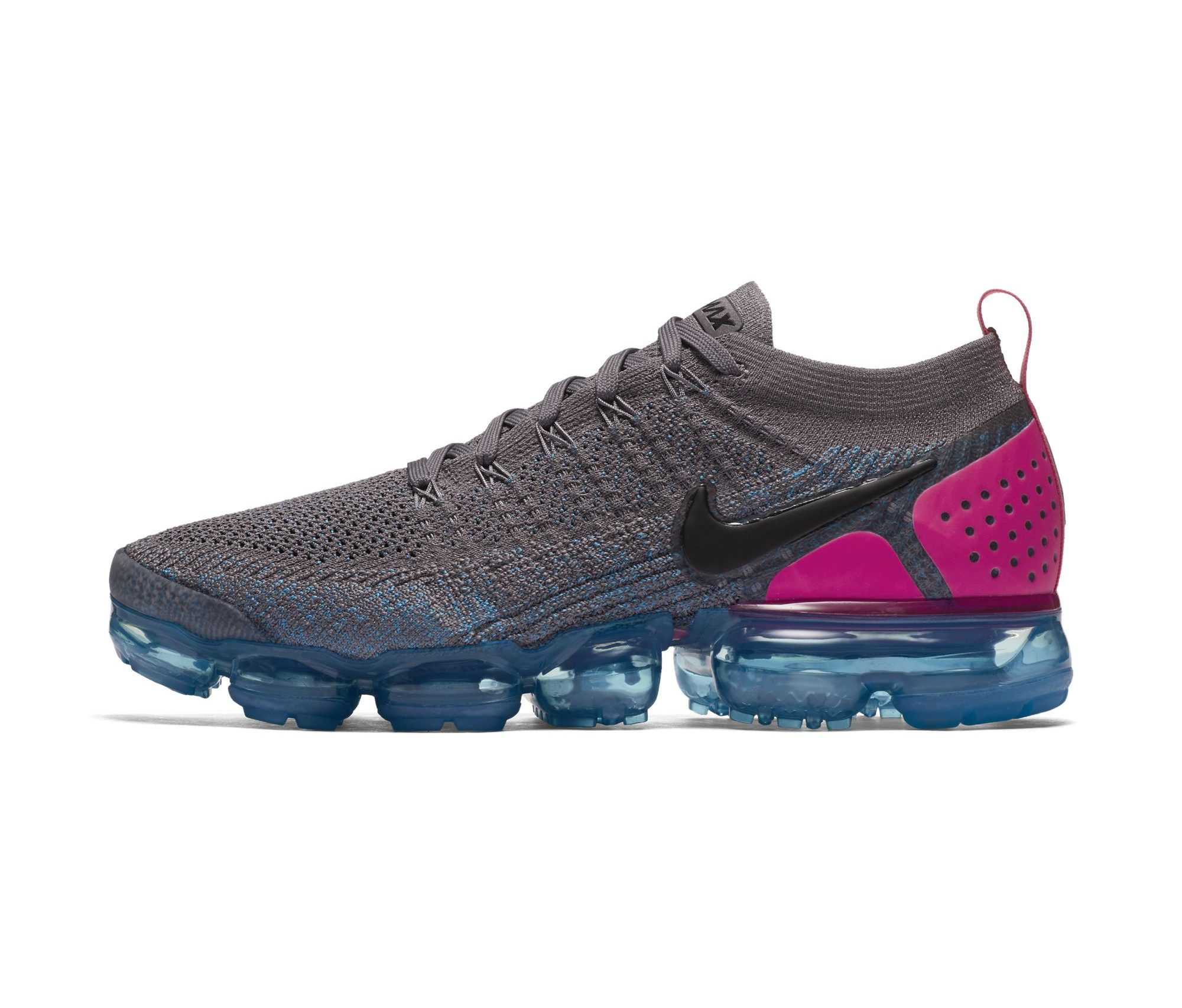 c28e889e5e6f NIKE AIR VAPORMAX FLYKNIT 2 GUNSMOKE BLACK-BLUE ORBIT-PINK BLAST-BLUE. Apr12