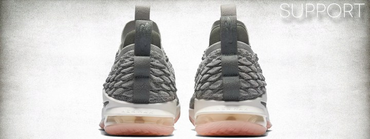 f6424b9f8e879 Support in the LeBron 15 was a bit lackluster due to the tooling setup