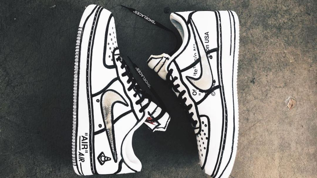 96e4c288a521b Joshua Vides Creates One-of-One Off White Air Force 1 for LeBron ...