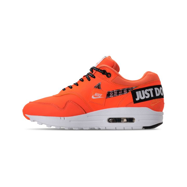 NIKE WMNS AIR MAX 1 WHITE : BLACK-TOTAL ORANGE 4