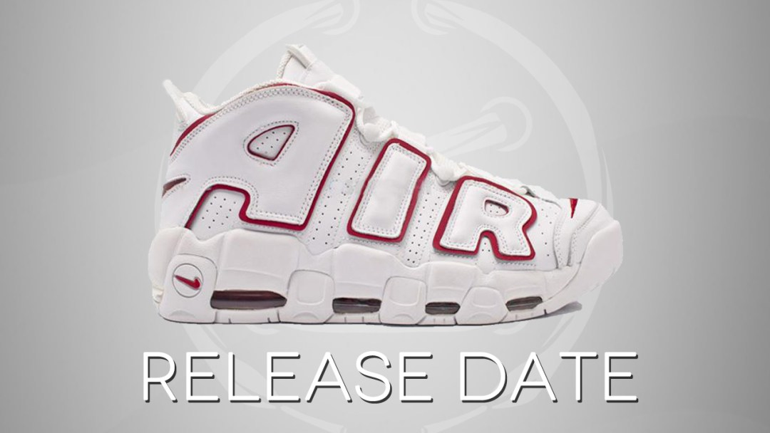 3121aef7d1c17 The Nike Air More Uptempo in White Varsity Red Returns in May ...