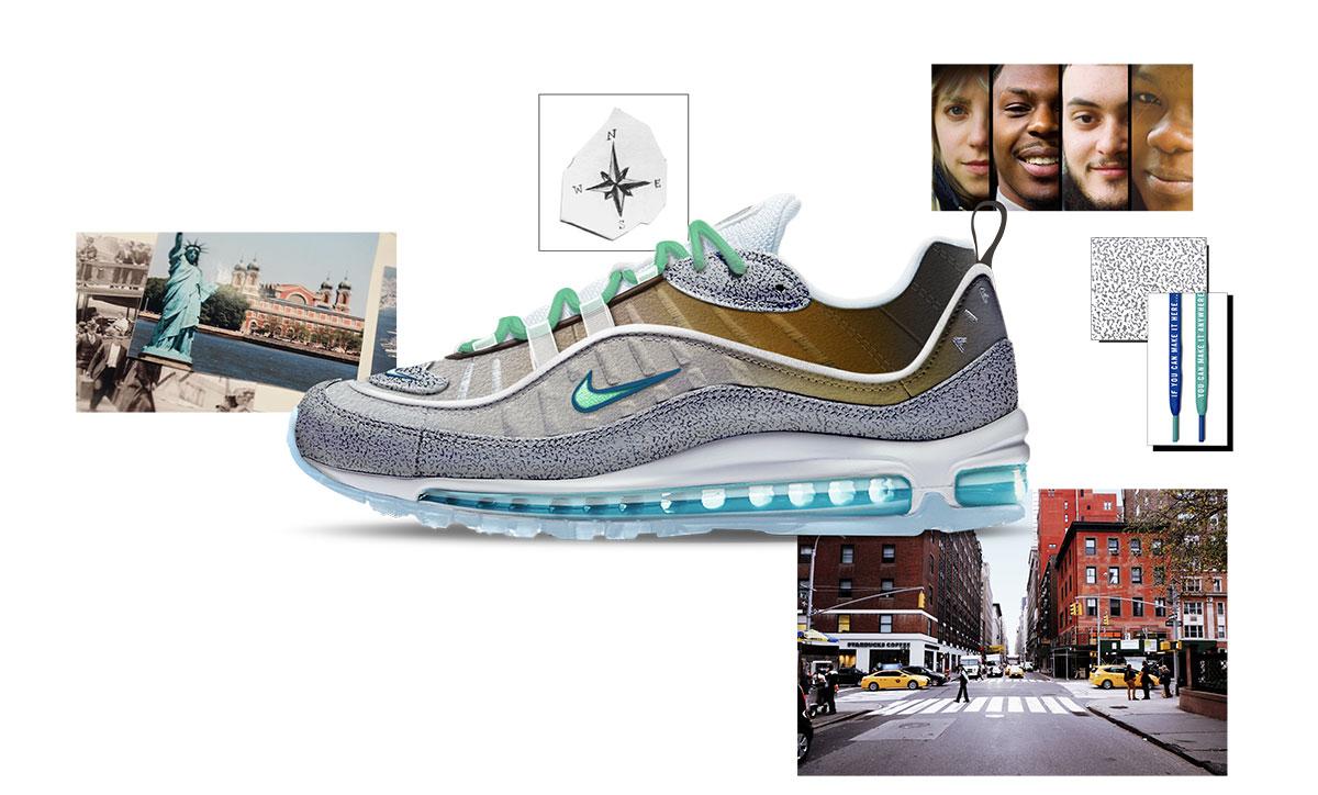 6238b56189ff0 Nike on air voting NYC air max 98 la mezcla gabriella serrano ...