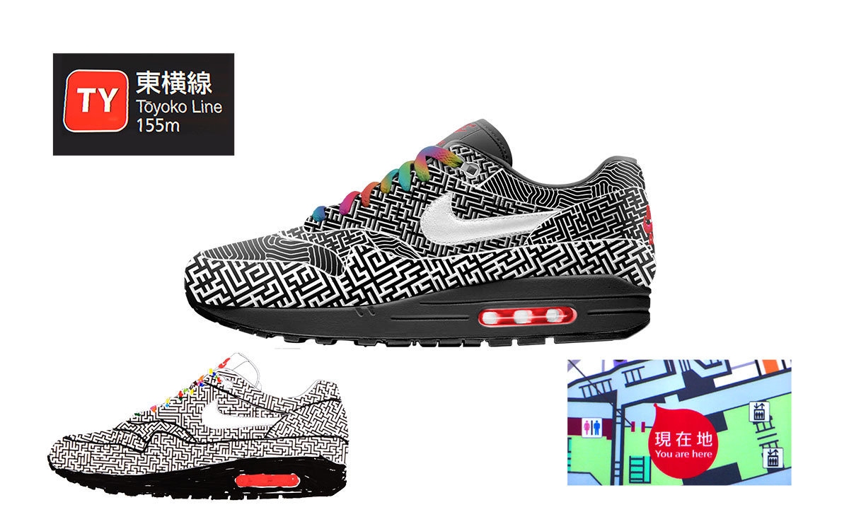 the latest 1b342 be10d Nike on air voting tokyo air max 1 maze yuta takuman 1