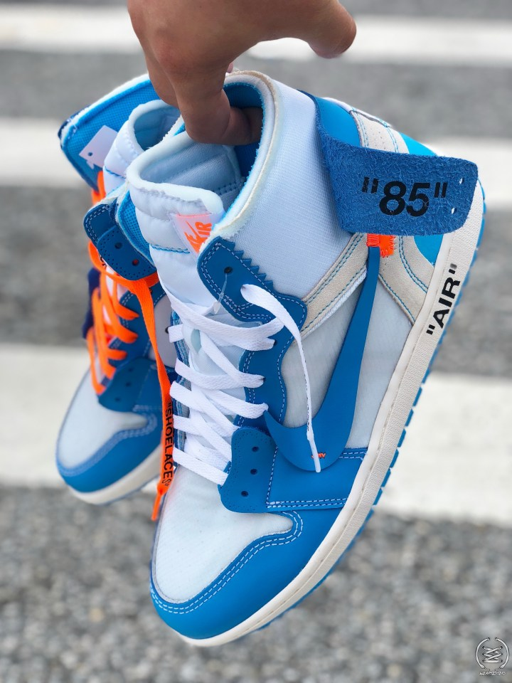 0e3664a3884 Here's a Detailed Look at Virgil Abloh's Off-White Air Jordan 1 'UNC ...