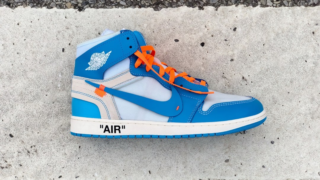 26bd60f34755f4 Here s a Detailed Look at Virgil Abloh s Off-White Air Jordan 1  UNC ...