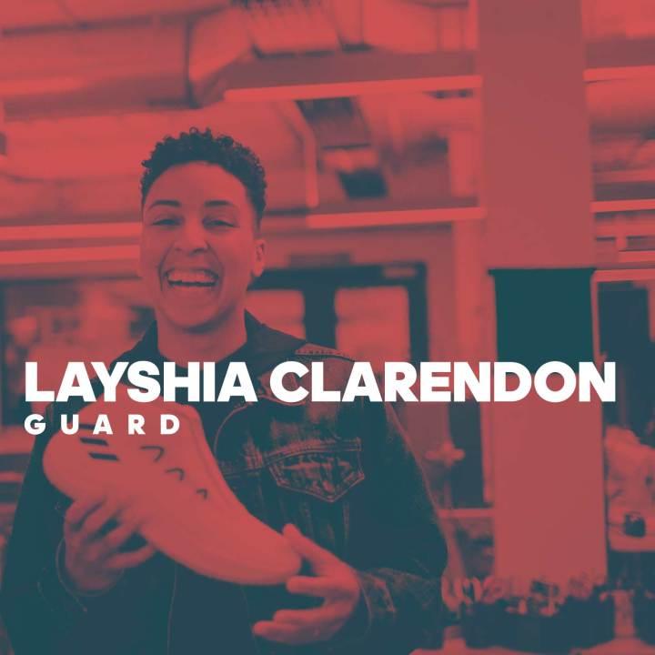 layshia clarendon signs adidas
