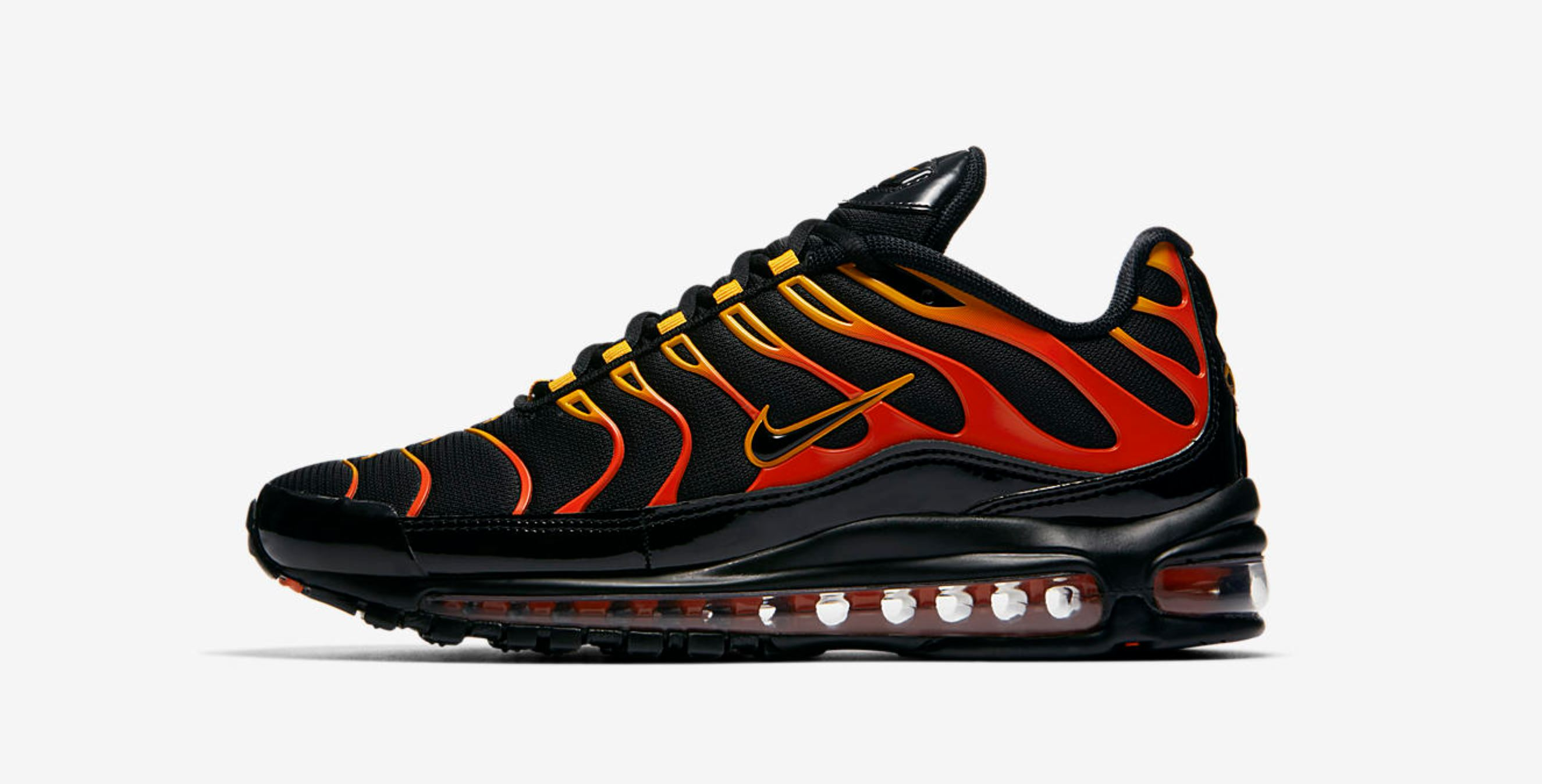 Flame On with the Nike Air Max Plus 97 'Shock Orange