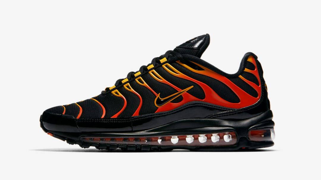 This Red Hot Nike Air Max 97 Plus Hybrid Arrives Friday - WearTesters b058ad421